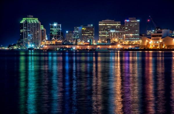 Photo Halifax At Night Spacing Atlantic