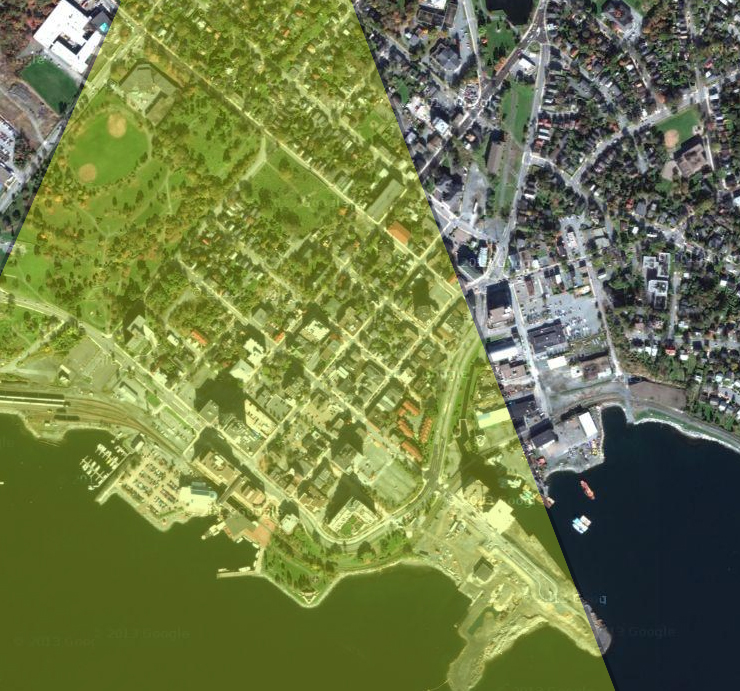 Approximate Location of Brightwood View Plane over Downtown Dartmouth