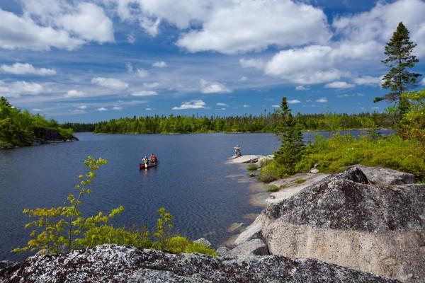 Canoeists on Susies Lake #2- Irwin Barrett