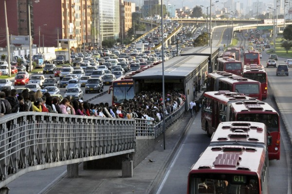 Bogota's Transmilenio system is Bus Rapid Transit (BRT) that has performance similar to subway systems.