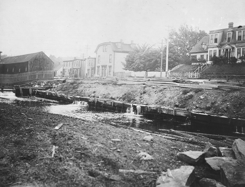 Sawmill River along Prince Albert Road where Irishtown Road is now located. Photo Dartmouth Heritage Museum