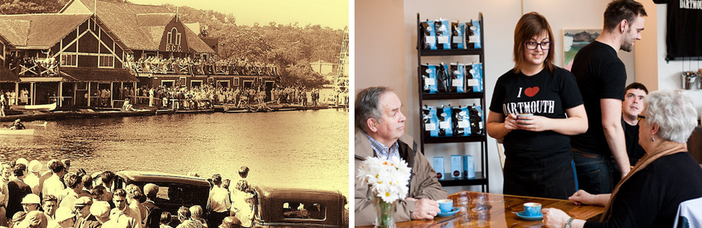 1930s Natal Day regatta on Lake Banook and coffee at Dartmouth's trendy Two if By Sea Cafe. Photos NS Archives & The Coast