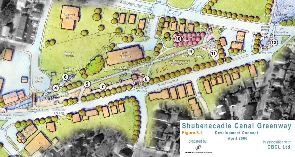 Original 2006 Canal Greenway Concept Plan by Ekistics Planning & Design