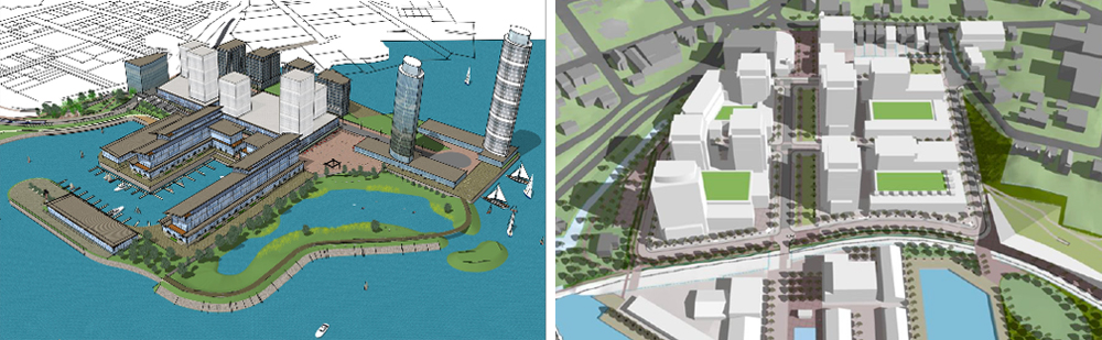 Revised plan for King's Wharf and concept plan for Dartmouth Cove. Photo HRM and WDCL
