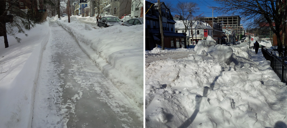 Sidewalk Conditions. Photo Meghan Groff News 95.7