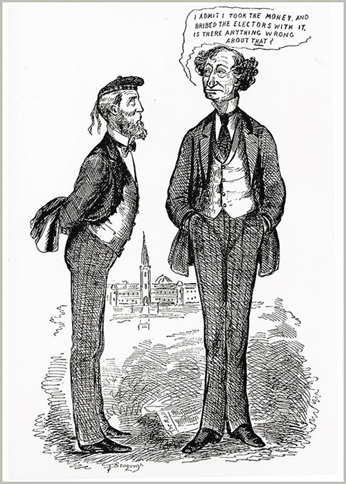 1873 Political Cartoon by J.W. Bengough