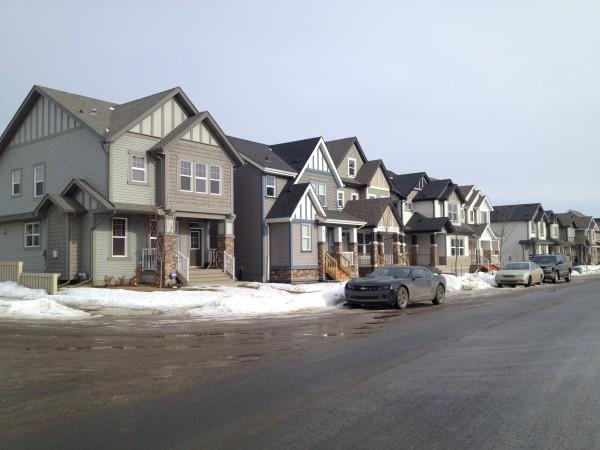 Suburban Street in Southwest Edmonton