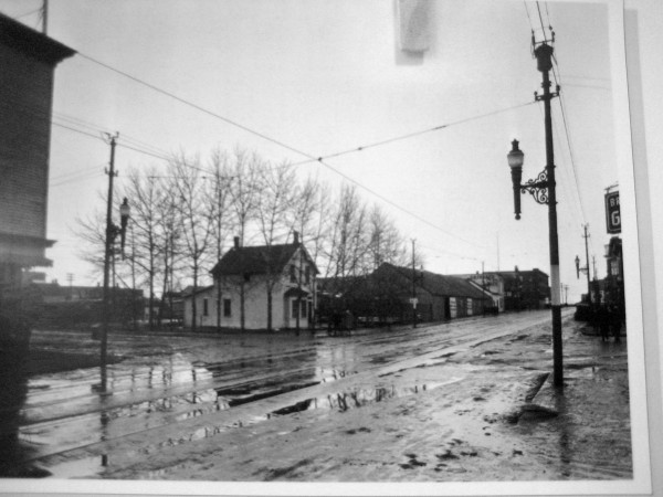 Corner of 102A ave and 97street. Courtesy of Edmonton Archives.