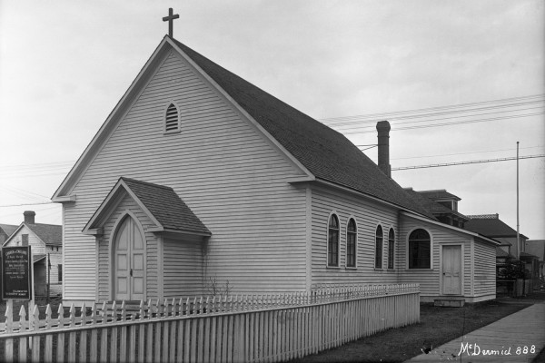 A view of St. Paul's Anglican Church in McCauley before it was rebuilt of brick and renamed St. Stephen's Anglican Church.