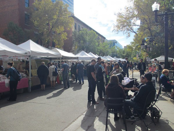 City Market returned to 104 street this weekend. Image courtesy of Sharon Yeo