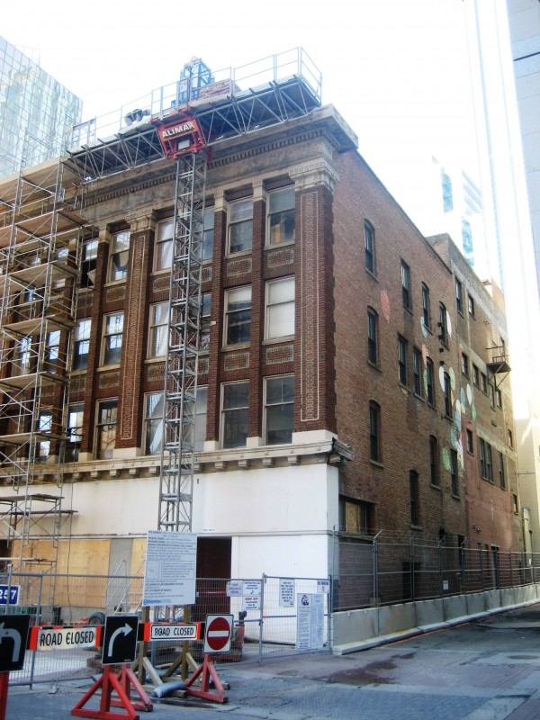 Deconstruction work on the Kelly Ramsey Building. Photo: P Giang