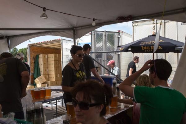 Beer garden ground zero.