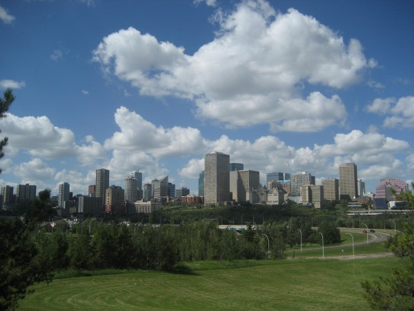 Edmonton Skyline from Connors Road. Photo Credit: P Giang