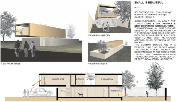 Design concept from the Portland Catalogue of Narrow House Designs
