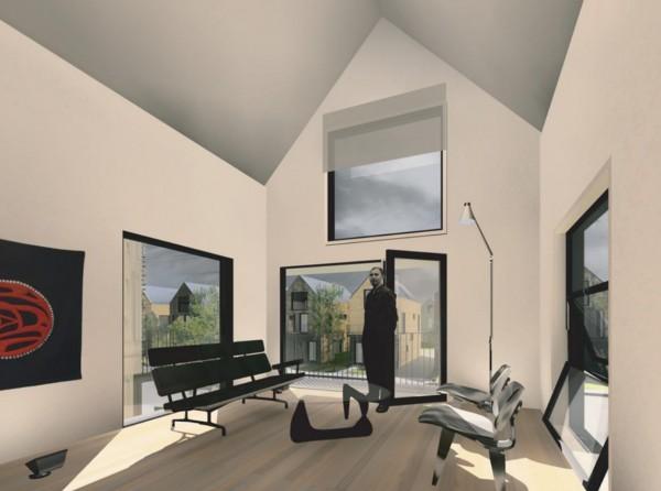 Design concept from the Portland Catalogue of Narrow House Designs