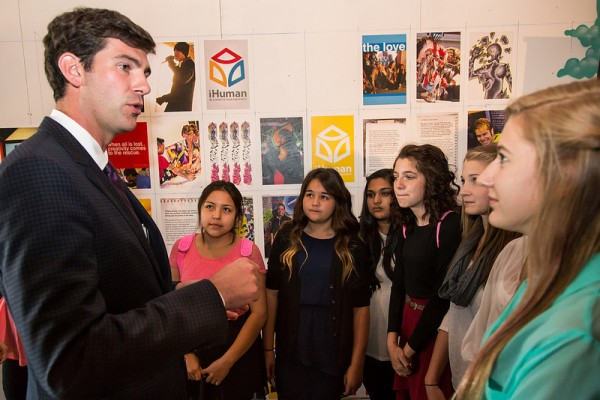 Speaking with high school students at iHuman Youth Society.