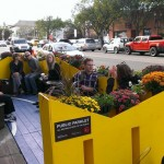 Isaak Kornelsen Memorial Parklet. Photo by Tyler Golly