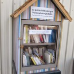 Little free French library in the French Quarter