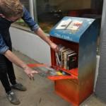 Little free library in Downtown Edmonton