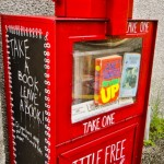 Little free library in Oliver