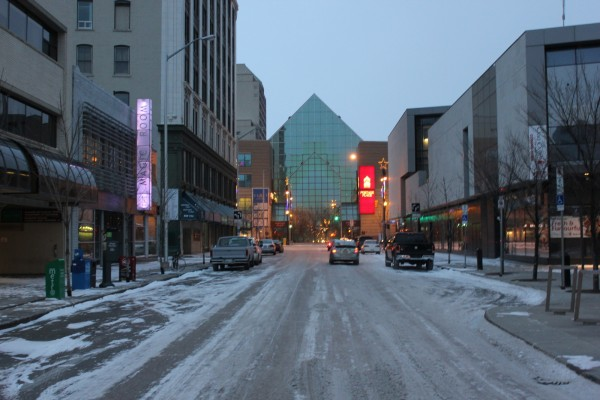 Edmonton Street in Winnipeg appropriately terminates with a pyramid.
