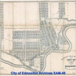 1905 - Driscoll's Map of City of Edmonton.  Land developing around remaining Hudson's Bay reserve