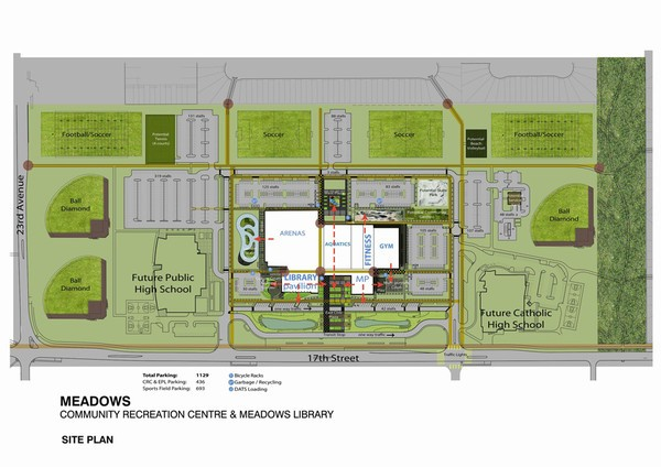 The Meadows District Park site plan. Source: City of Edmonton.