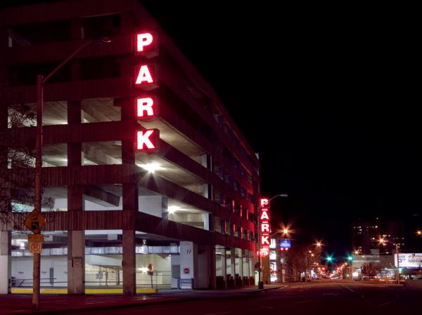 A parkade in downtown Edmonton.