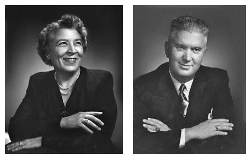Dr. Gladys Muttart and Merrill Muttart. Photos © Yousuf Karsh. Used with permission.