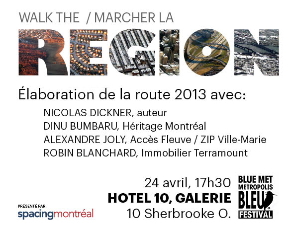 Walk the region Blue Met flyer