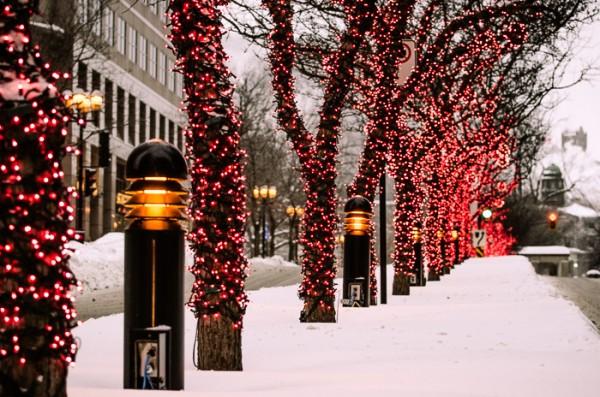 photo du jour christmas lights on mcgill college avenue