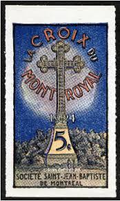 1924 croix mont-royal timbre commemoratif