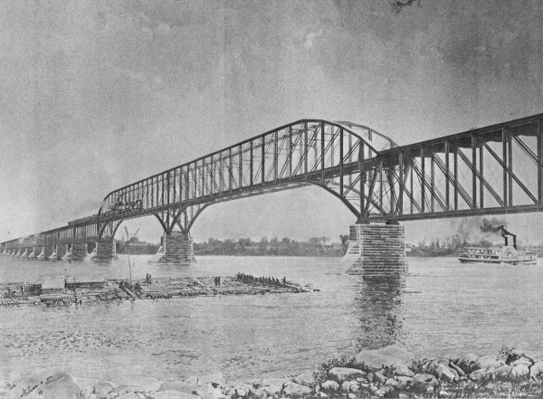 Pont de Lachine construit par la Dominion Bridge, 1886, Fonds Dominion Bridge Company, Bibliothèque et Archives Canada
