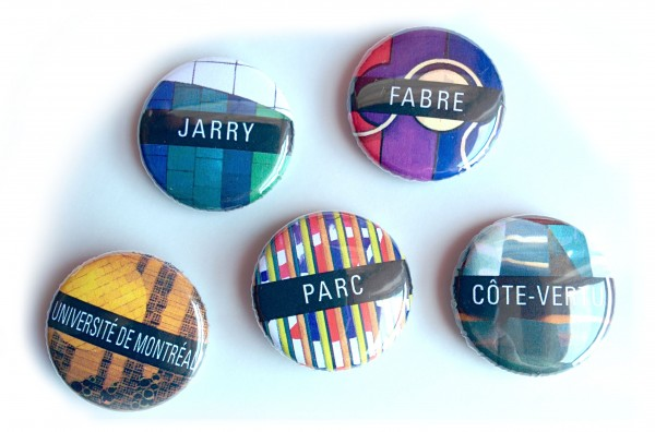 All the Montreal Metro Buttons at Expozine - Spacing Montreal