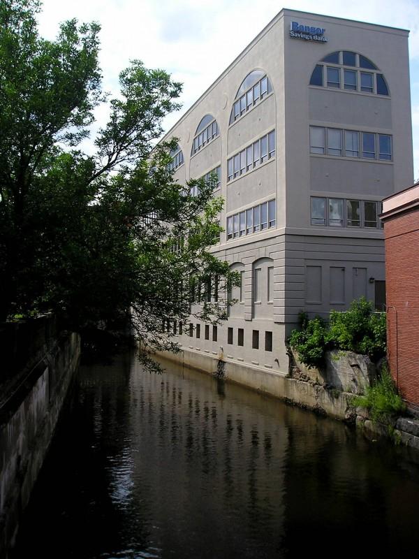 Urban stream – Kenduskeag Stream in downtown Bangor.