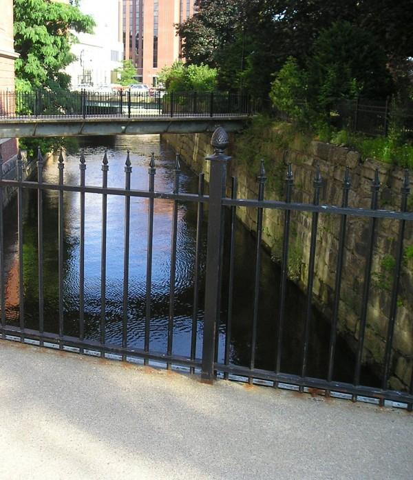 Bridges along the Kenduskeag Stream in downtown Bangor.