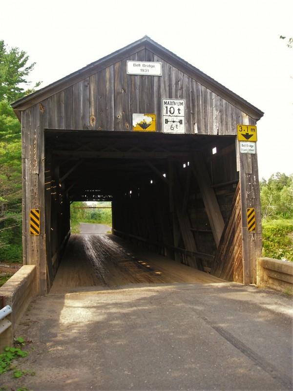 Covered Bridge on Boyne Road. Hoyt, NB.