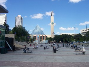 An empty Churchill Square, Edmonton. Source: Wikipedia