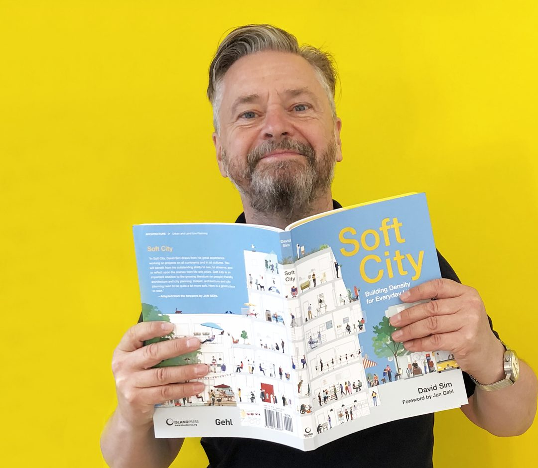 David Sim and his book, Soft City