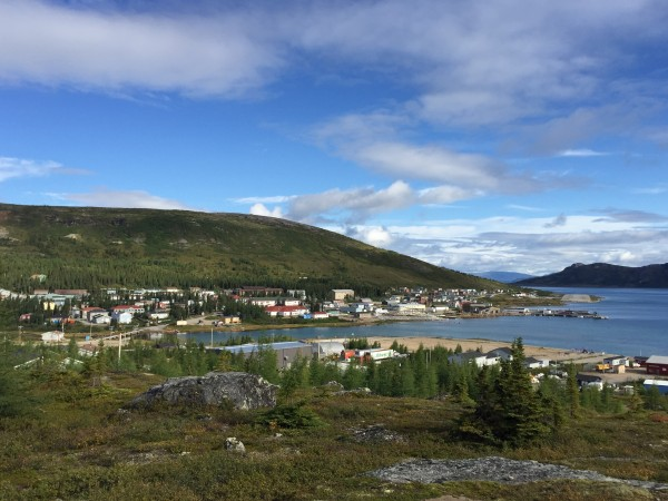Nain with the runway in the background. August 2015.