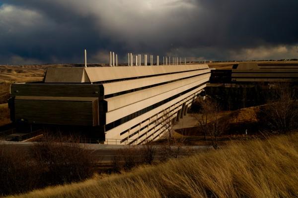 University Hall at the University of Lethbridge, Alberta. Designed by Arthur Erikson