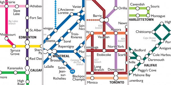 A Closer Look At The City Of Canada Transit Map Spacing National