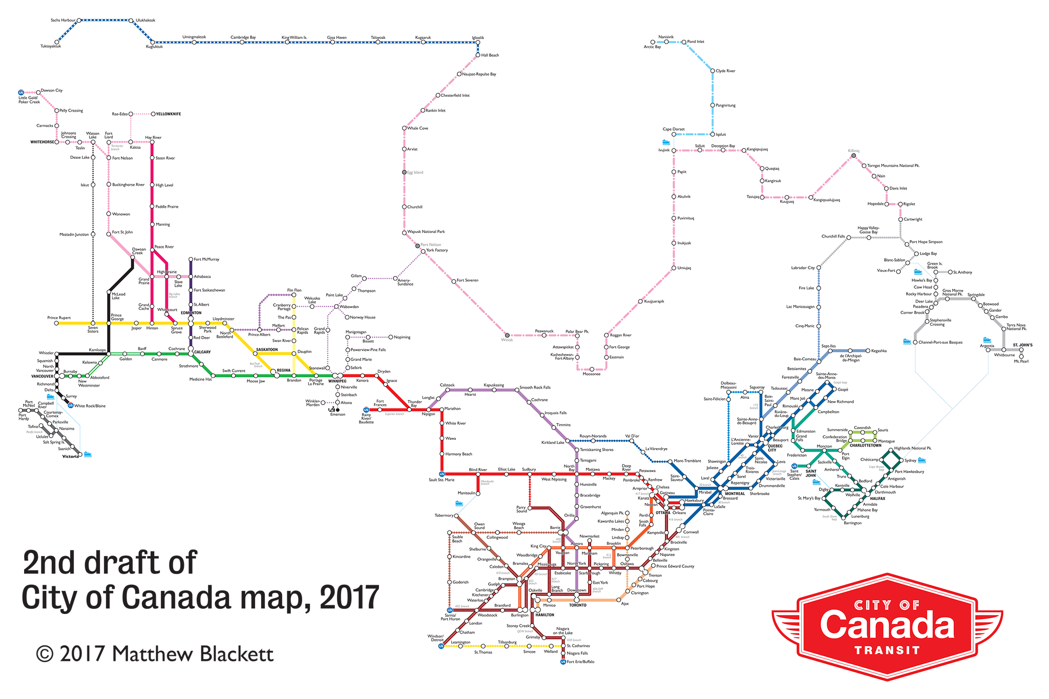 City Map Of Canada.A Closer Look At The City Of Canada Transit Map Spacing National
