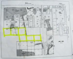 Plan de fouilles