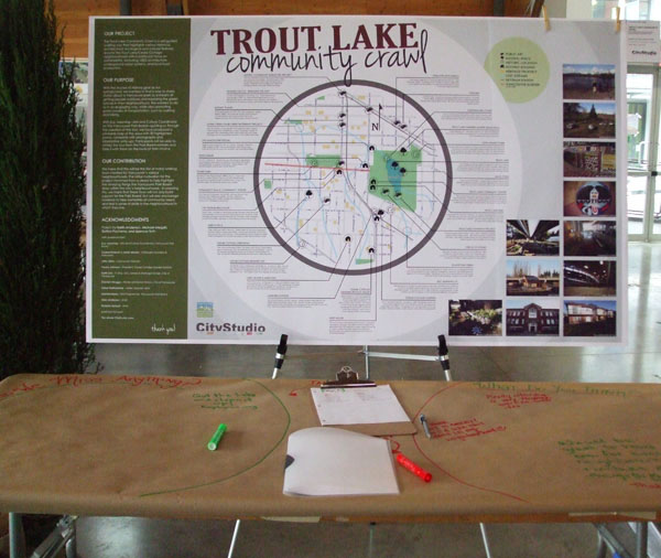 Trout Lake Community Crawl, one of this semester's core studio group projects.