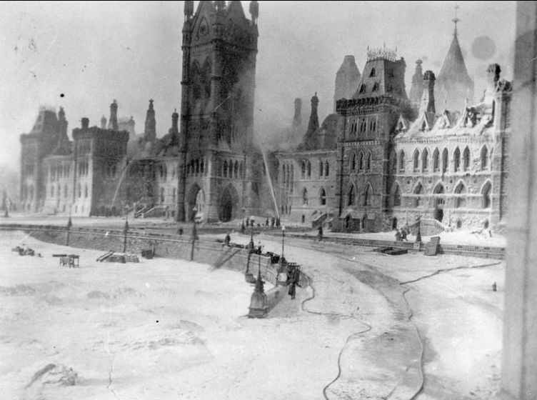 the burning of the parliament building The reichstag burns  with hitler's approval, then hatched a plan to cause panic by burning the reichstag building and blaming the communists.