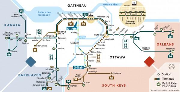 Ottawa Subway Map.Oc Transpo Gets Graphic The Transitway Map Spacing Ottawa