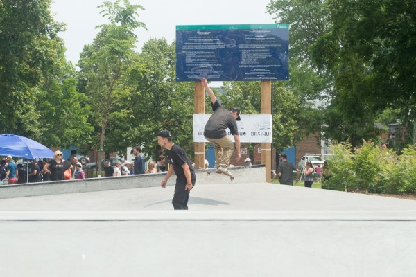 This park would not have been possible without the efforts of Antique Skate Shop