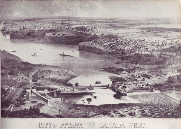City of Ottawa circa 1860""