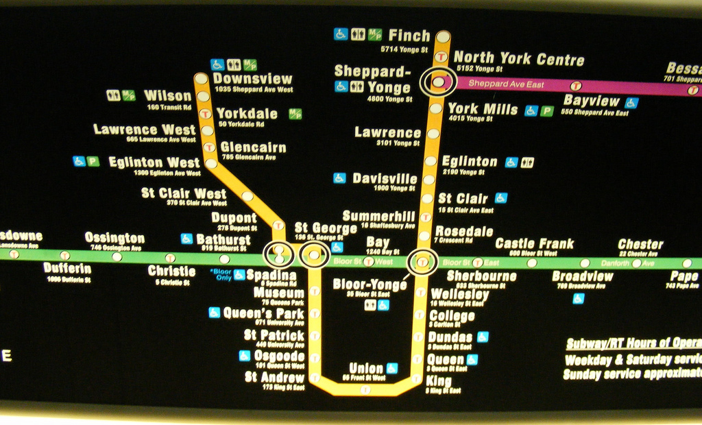 New York Subway Map 2008.Ttc Subway Map Update Back From The Drawing Board Spacing Toronto